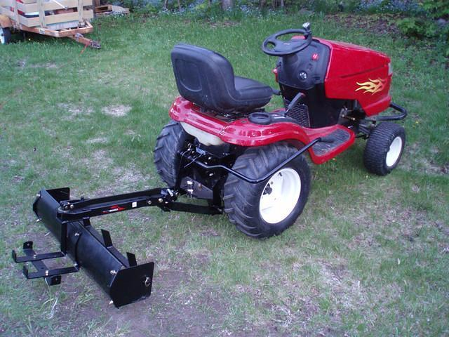 2004 Craftsman Gt5000 Garden Tractor : Brinly hardy bs bh quot box scraper attached to a