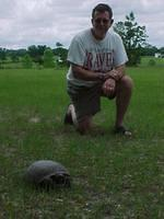 Dad and tortoise