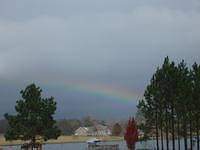 Rainbow over the lake