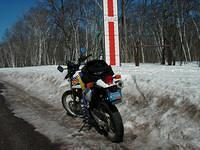 Another pic in front of the world-famous Keweenaw Snow Meter