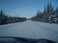 Weather and roads were beautiful south of Grand Marais.