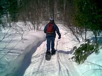 Snowshoeing with James