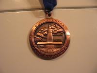 The front of my medal.