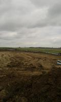 Water & sewage to new housing development. Pipe layed out on ground