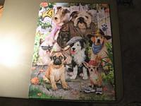 Dogs galore.  Cute puzzle named Cool Dudes. 550 pieces