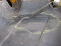 Backhoe Tire Cracks